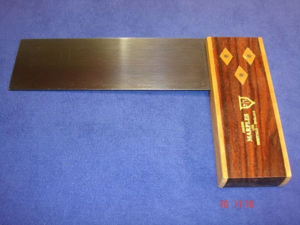 "Joseph Marples Rosewood Carpenters Try Square 152mm 6"" Brass ""TRIAL"" T06"